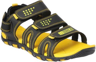 Dice Men Black, Yellow Sandals