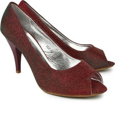 Jove Women Maroon Heels