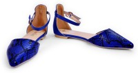 The Shoe Closet Women Blue Flats