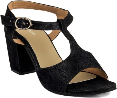 WELLWORTH Women Black Heels