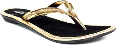 Just Flats Women Gold Flats