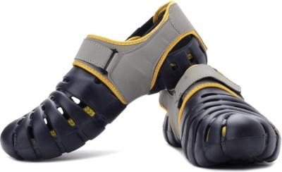 Globalite Parko IV Men Navy, Grey, Yellow Sandals