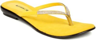 Kosher Klss028-Yellow Women Yellow Flats