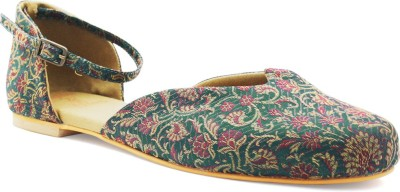 Rhythm & Shoes Women Green Flats