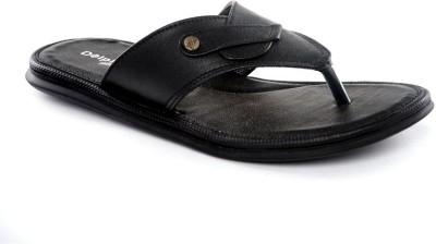 Dolphin Miles Stylish Slippers Men Black Flats