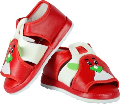 FabSeasons Boys, Girls Red Sandals