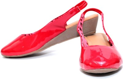 Oh Feet ! Women Red Wedges