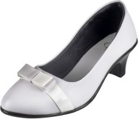 Berry Purple Women White Heels