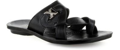 Footick Men Black Sandals