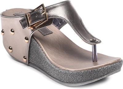Bruno Manetti Women Grey Wedges