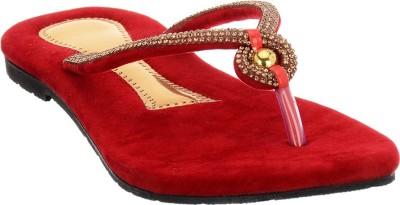 Brandvilla Women Red Flats