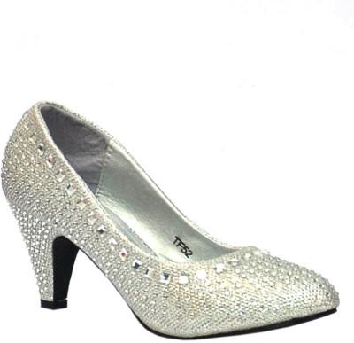 Trilokani Wedding Queen Women Silver Heels