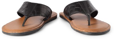 Louis Philippe Men Black Sandals