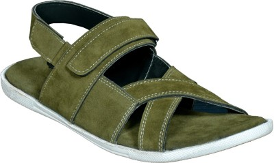 Mr. Polo Men Green Sandals