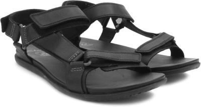 Clarks Valor Race Black Leather Men Black Sandals