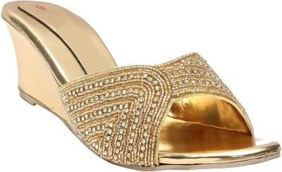 Vaishnovi Women Gold Wedges