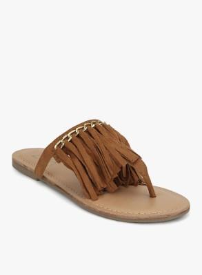 Zebba Women Tan Flats