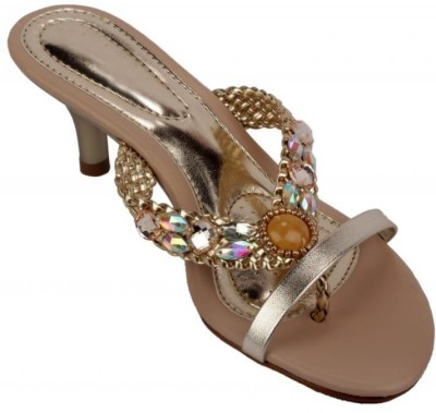 Moda Brasil Women Gold Heels