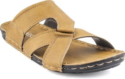 Zapatoz Men Beige Sandals