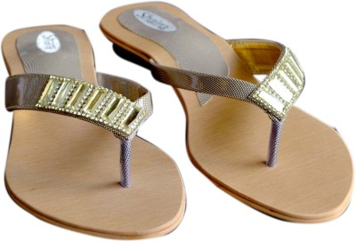 Mystique Walk Shaina Women Gold, Brown Flats