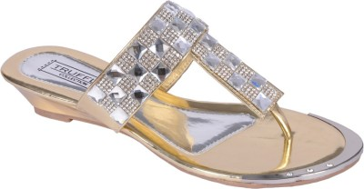 Truffle Collection Women Gold Wedges