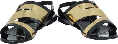 Claude Lorrain Women Black, Gold Flats