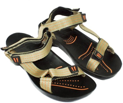 Maayas Men Beige, Orange Sandals