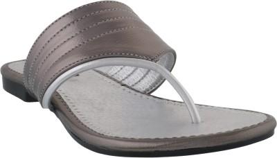 Footsy Women Silver, Grey Flats
