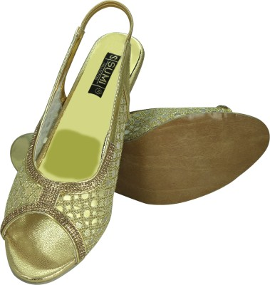 SUMI Collections Women Gold Heels
