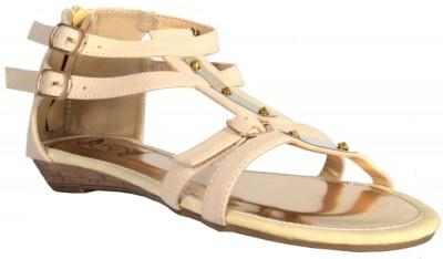 TSF Beige Sandal Women Beige Flats