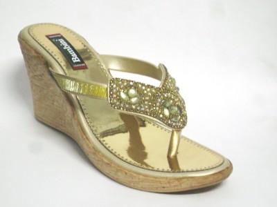BAMBINI Women Gold Wedges