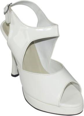 Maayas Women White Heels