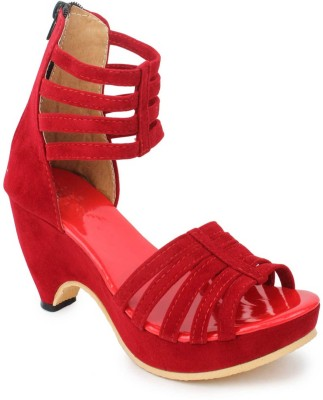 Naysaa Women Red Heels