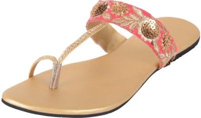 PRAAGS Women Pink, Gold Heels