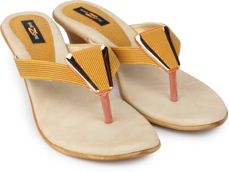 Shezone Women Yellow Heels