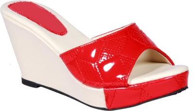 Funku Fashion Women Red, Red Wedges