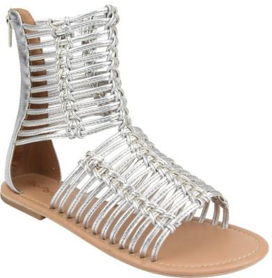 Tao Paris Women Silver Flats