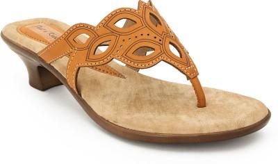FEET N KNOTS Women Tan Heels