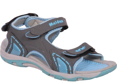Meldas Stella Women Grey, Blue Sports Sandals