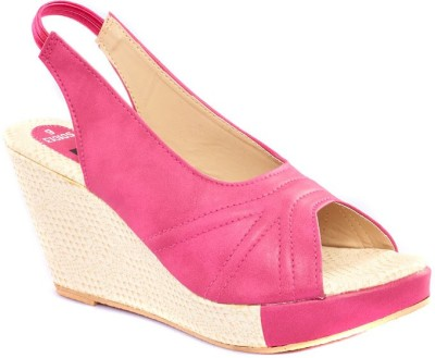 Dolphin Miles Women Pink Wedges