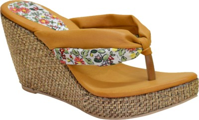 Apick Women Tan Wedges
