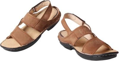 Leather Soft Men Tan Sandals
