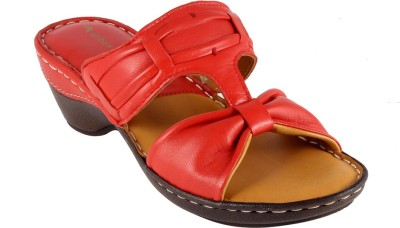 Urban Country Women Red Wedges