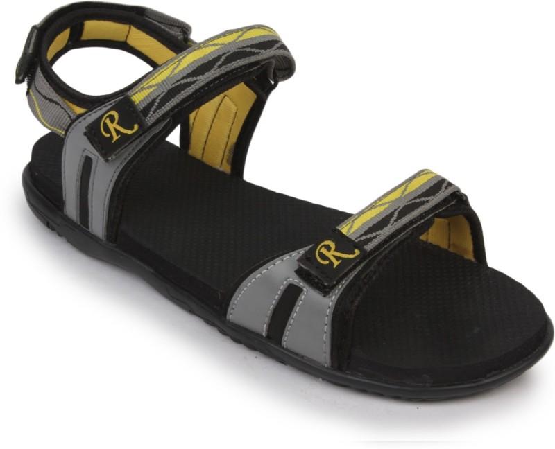 Rod Takes Girls, Women Yellow, Grey Sports Sandals