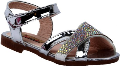 Foot Candy Girls Silver Sandals