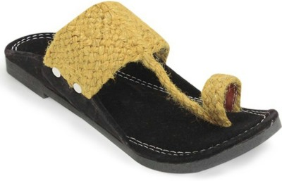 Footrendz Men Gold Sandals