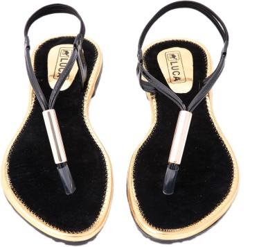 Luca Fashion Women Black Flats