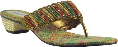 Faith 100214 Women Gold Heels