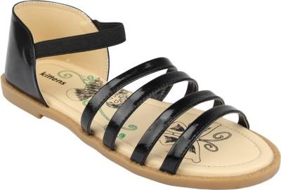 Kittens Girls Black Sports Sandals