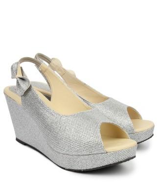 Ziesha Women Silver Wedges